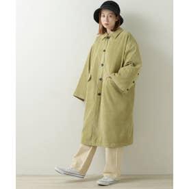 袖ボタンステンカラーオーバーコート(C) (黄緑)