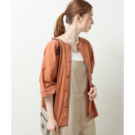 DOUBLE NAMEパイピング2WAYシャツプルオーバー (オレンジ)