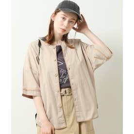 DOUBLE NAMEパイピング2WAYシャツプルオーバー (生成)