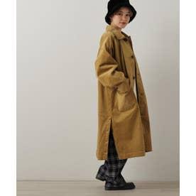 SHJ パイピングコーデュロイステンカラーコート (カラシ)