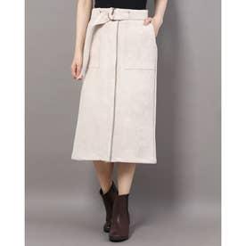 アウトポケットタイトスカート (ベージュ)