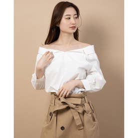 【Hamac】抜き襟前後2WAYシャツ (OFF WHITE)