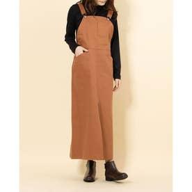 サージジャンパースカート (BROWN)