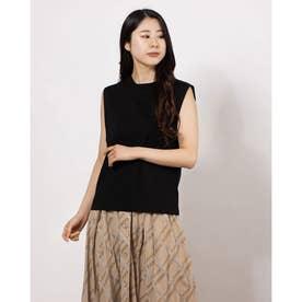 サイドガゼットノースリTシャツ (BLACK)