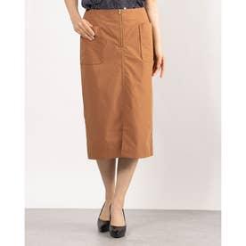 フロントファスナータイトスカート (CAMEL)