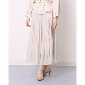 割繊シフォンスカート (OFF WHITE)