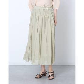 割繊シフォンスカート (KHAKI)