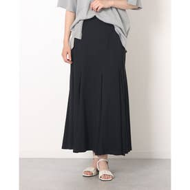 マチ入りフレアースカート (BLACK)