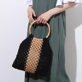 Flag Crochet Bag (BLACK)