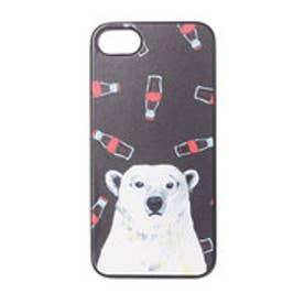 iPhone7 ブラックケース 白熊とコーラ (ブラック)