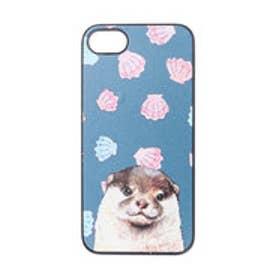 iPhone7 ブラックケース ラッコとホタテガイ (グリーン)