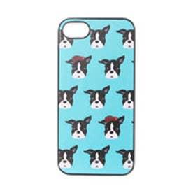 iPhone7 ブラックケース Fashionable Dog フレンチブルドッグ (ターコイズ)