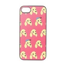 iPhone7 ブラックケース Fashionable Dog  コッカースパニエル (レッド)