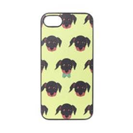 iPhone7 ブラックケース Fashionable Dog ダックスフンド (イエロー)