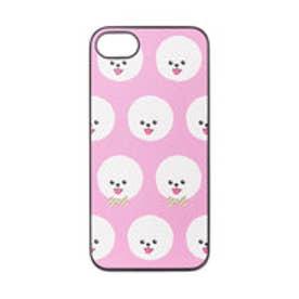 iPhone7 ブラックケース Fashionable Dog ビションフリーゼ (ピンク)