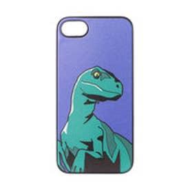 iPhone7 ブラックケース ヴェロキラプトル ブルー (ブルー)