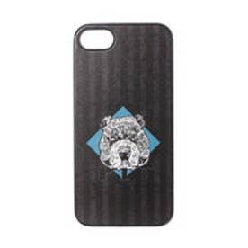 iPhone7 ブラックケース 檻の中のブルドッグ (ブラック)