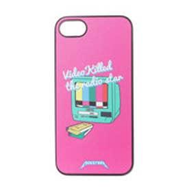 iPhone7 ブラックケース RADIO STAR ピンク (ピンク)