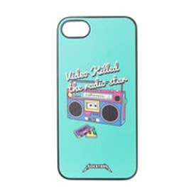 iPhone7 ブラックケース RADIO STAR グリーン (グリーン)