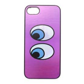 iPhone7 Twinkle Case キラキラアイズ パープル (ブラック)