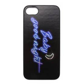 iPhone7 Twinkle Case BabyGoodnight ブルー (ブラック)