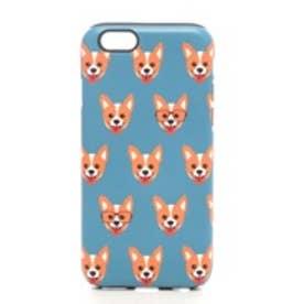 iPhone6s/6 タフケース Fashionable Dog シリーズ Welsh Corgi (ブルー)