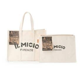 IL MICIO バッグインバッグ付きBIGトートバッグ (ホワイト)