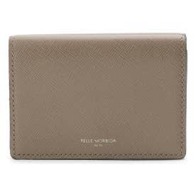 PELLE MORBIDA 型押しレザー3つ折り財布 (タバコブラウン)