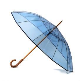 Traditional Weatherwear クリアアンブレラ バンブー(長傘) (ブルー)