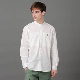 バンドカラーワークシャツ (ホワイト)