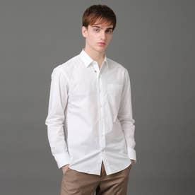 タイプライターレギュラーカラーシャツ (ホワイト)