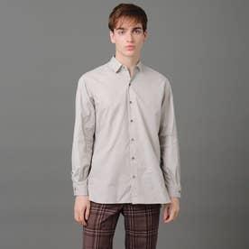 リラックスフィット レギュラカラーシャツ (ライトグレー)