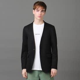 ノーカラー リラックスジャケット (ブラック)