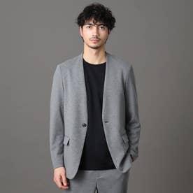 【MonoMax4月号掲載商品】ウールブレンド ノーカラーリラックスジャケット (グレー)