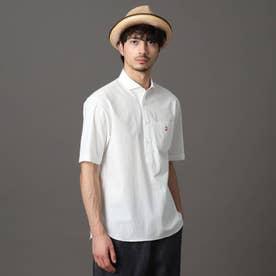 プルオーバーショートスリーブシャツ (ホワイト)