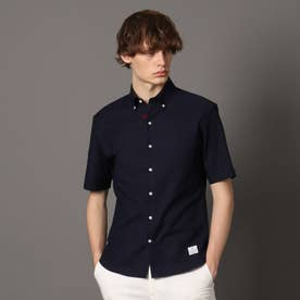 オックスフォード ショートスリーブボタンダウンシャツ (ダークネイビー)