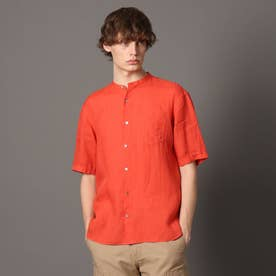 ラミーバンドカラーハーフシャツ (オレンジ)