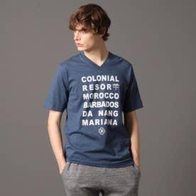 コロニアルリゾート タイポグラフィーTシャツ (ブルー)