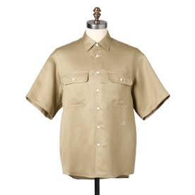 リネン混CPOシャツ (サンドベージュ)