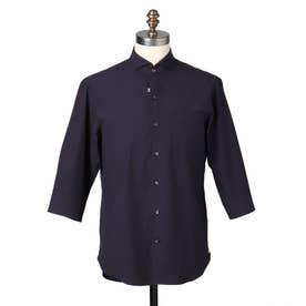 スリークオーター タイプライターシャツ (ネイビー)