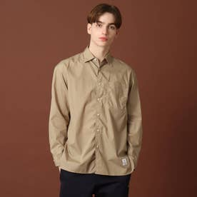 【men's FUDGE9月号掲載】200/2ブロードシャツ (ナチュラル)