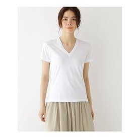 ◆AURALEE VネックTシャツ (アイボリー(004))