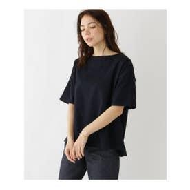 バスク天竺ドロップTシャツ (ネイビー(093))