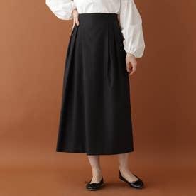 アシンメトリータックハイウエストスカート (ブラック)