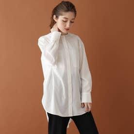 ノーカラーチュニックシャツ (ホワイト)