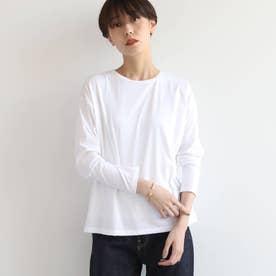 シルクコットンジャージロングTシャツ (ホワイト)