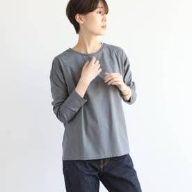 シルクコットンジャージロングTシャツ (ダークグレー)