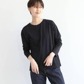 シルクコットンジャージロングTシャツ (ブラック)