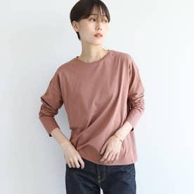 シルクコットンジャージロングTシャツ (ベビーピンク)