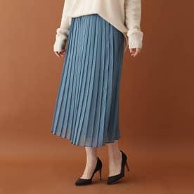 エアリープリーツスカート (ブルー)